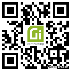 QR code with logo 34DR0