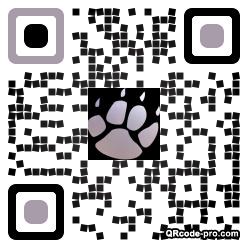 QR code with logo 34Rn0