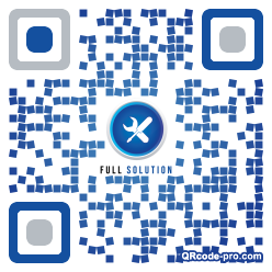 QR code with logo 34Yz0
