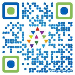 QR code with logo 34ZI0