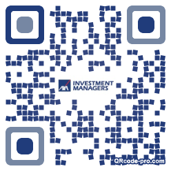 QR code with logo A2z0