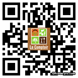 QR code with logo A9M0