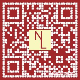 QR code with logo A9U0