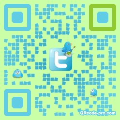QR code with logo AOt0