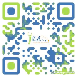 QR code with logo AaX0