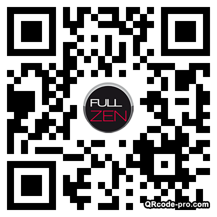 QR code with logo Adt0