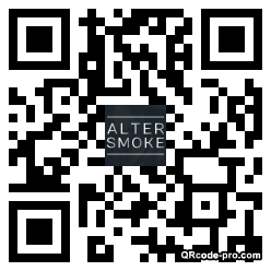 QR code with logo Aoe0