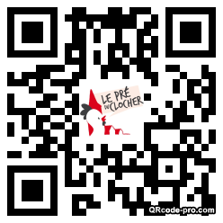 QR code with logo BE30