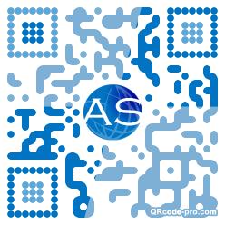 QR code with logo BKA0