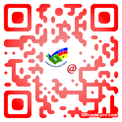 QR code with logo BMC0
