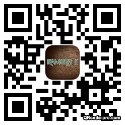QR code with logo Brt0