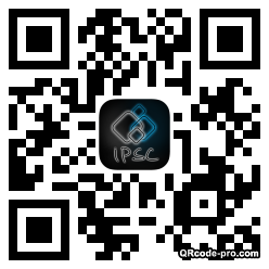 QR code with logo Bt40