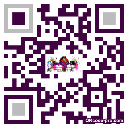 QR code with logo C9h0