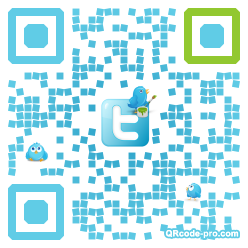 QR code with logo CER0