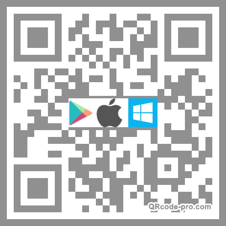 QR code with logo DLh0