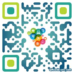 QR code with logo Del0