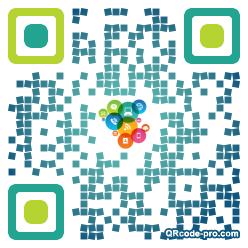 QR code with logo Dfw0