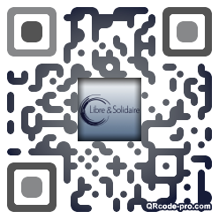 QR code with logo Dhv0