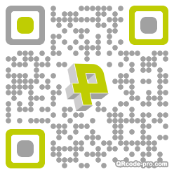 QR code with logo Dm20