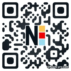 QR code with logo Dvx0