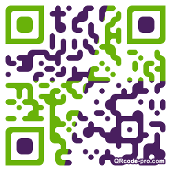 QR code with logo F3I0