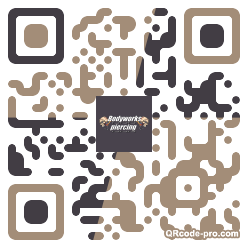 QR code with logo F8l0