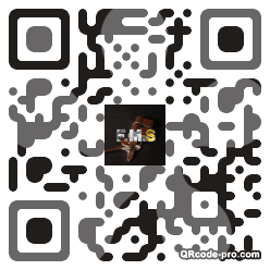 QR code with logo FDd0