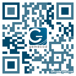 QR code with logo FF70