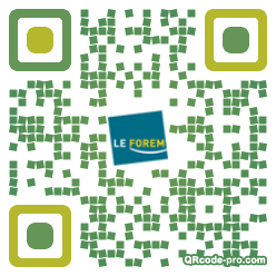 QR code with logo FgR0