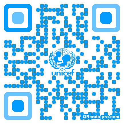 QR code with logo FlB0