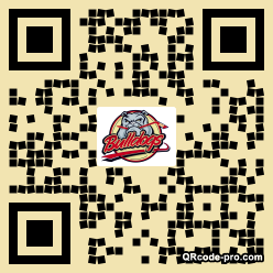 QR code with logo GBM0