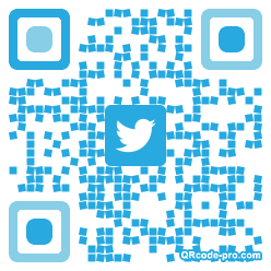 QR code with logo GMU0