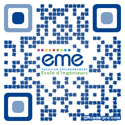 QR code with logo GZE0