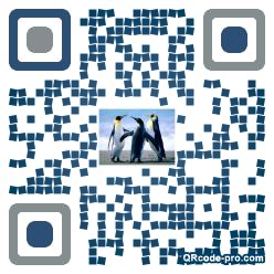 QR code with logo H3K0