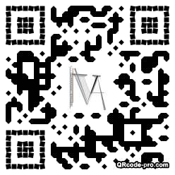 QR code with logo H3k0