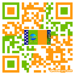 QR code with logo HAW0