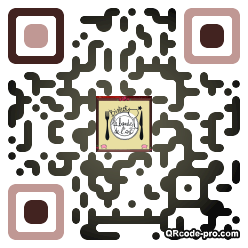 QR code with logo Hde0