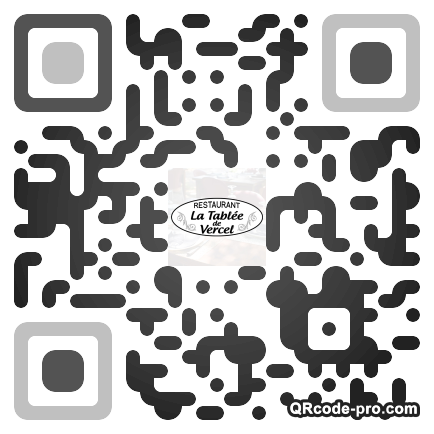 QR code with logo Hdg0