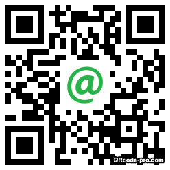 QR code with logo Hkr0