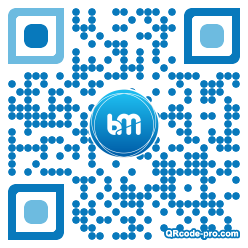 QR code with logo HlE0