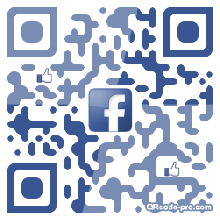 QR code with logo Hrb0