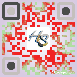 QR code with logo Hvy0