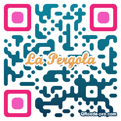 QR code with logo Hzn0