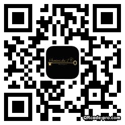 QR code with logo JMR0