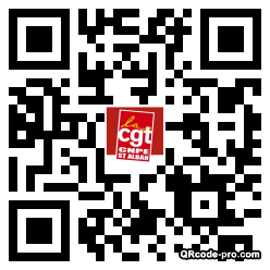 QR code with logo Jcf0