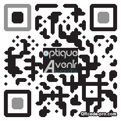 QR code with logo K0M0