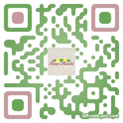 QR code with logo KHx0