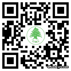 QR code with logo KXN0
