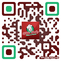 QR code with logo Klp0