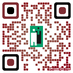 QR code with logo KnR0